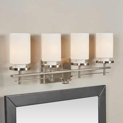 Foxall 4-Light Vanity Light Finish: Satin Nickel