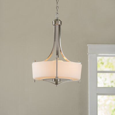 Foxall Drum Pendant Finish: Satin Nickel