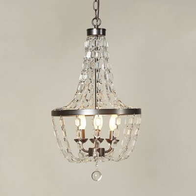 Lemington 3-Light Crystal Chandelier
