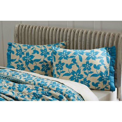 Kim Pillowcases Color: Azure