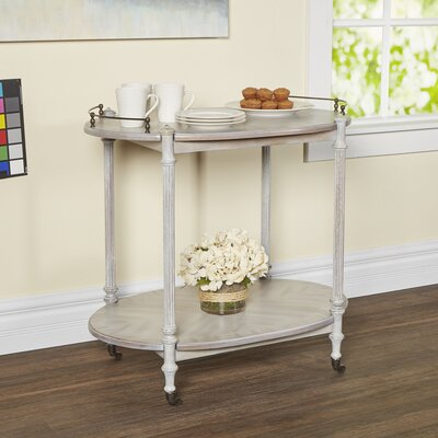 Heisler Kitchen Cart with Wood Top Base Finish: Driftwood