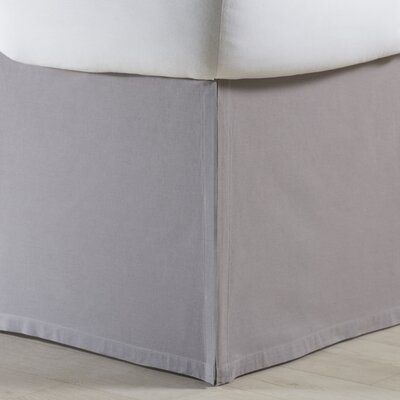 Rochelle Bed Skirt Size: Twin, Color: Grey