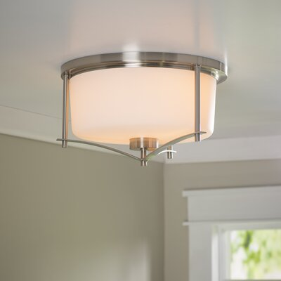 Foxall Flush Mount Finish: Satin Nickel
