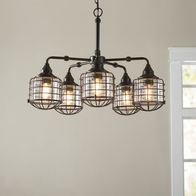 Gaskell 5-Light Shaded Chandelier