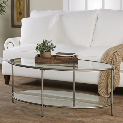 Harlan Coffee Table - 2 Glass Shelves