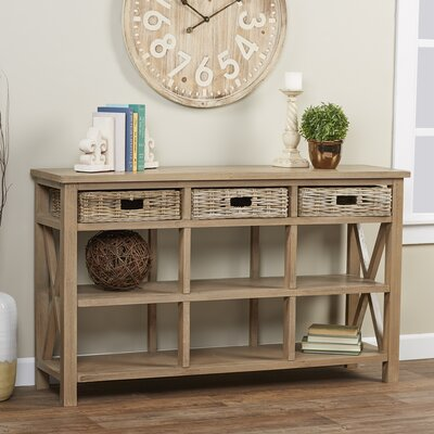 Cleveland Console Table Color: Gray