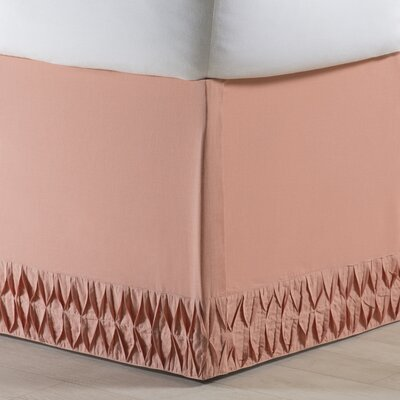 Krista Bed Skirt Size: King, Color: Apricot