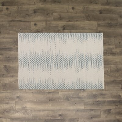 Ogden Hand-Woven Seafoam Area Rug Rug Size: Rectangle 4 x 6
