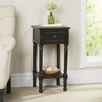 Capell Square Side Table Color: Black