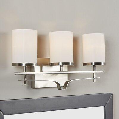 Andover Mills Agnes 3-Light Vanity Light Finish: Satin Nickel