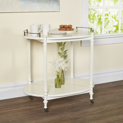 Heisler Kitchen Cart with Wood Top Base Finish: Cottage White