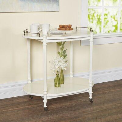 Heisler Kitchen Cart with Wood Top Base Finish: Cottage White