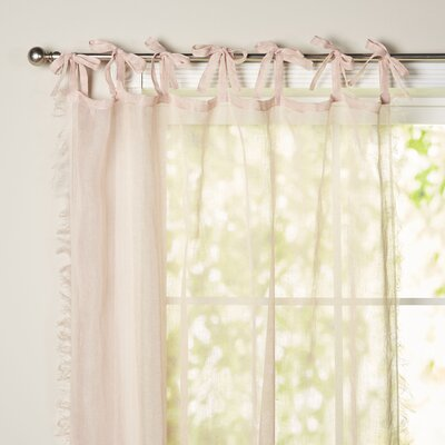 Haley Raw Edge Single Curtain Panel