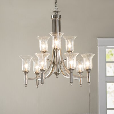 Marcet 9-Light Shaded Chandelier