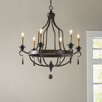 Coningsby 6-Light Candle-Style Chandelier