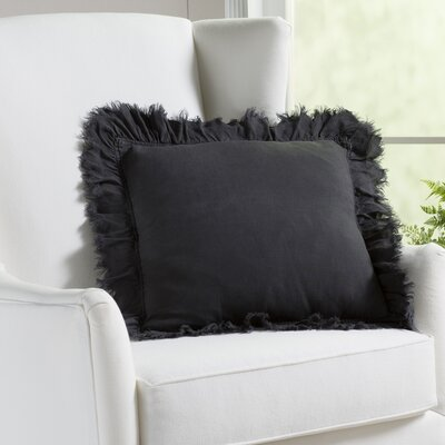 Gordonia Fringed Linen Pillow Color: Smoke