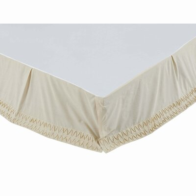 Krista Bed Skirt Size: King, Color: Creme