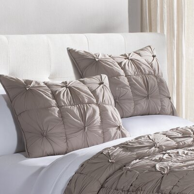 Camille Quilted Sham Size: Euro, Color: Taupe