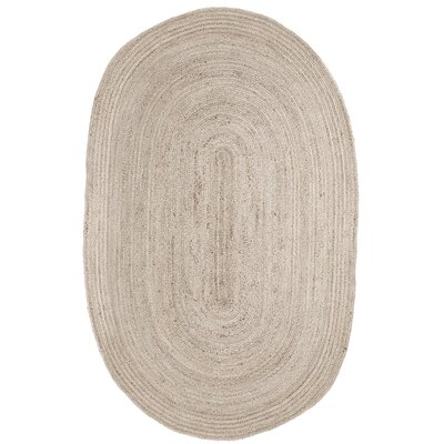 Gramercy Hand-Woven Ivory Area Rug Rug Size: Oval 6 x 9