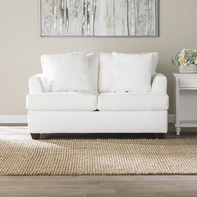 Trentham Loveseat Upholstery: Godiva Putty