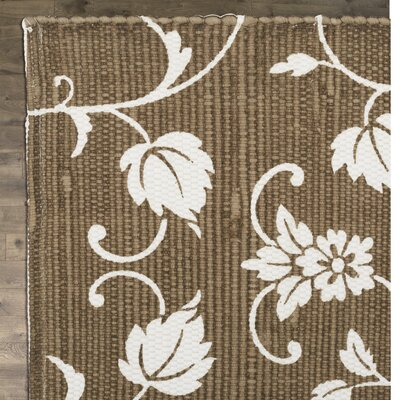Brantley Taupe/White Area Rug