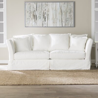 Blakesley Slipcovered Sofa Upholstery: Classic Bleach White