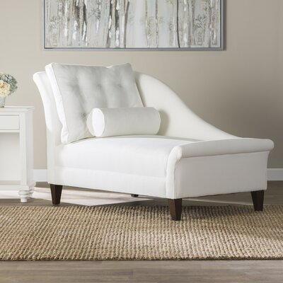Haddon Chaise Lounge Upholstery: Laney Navy