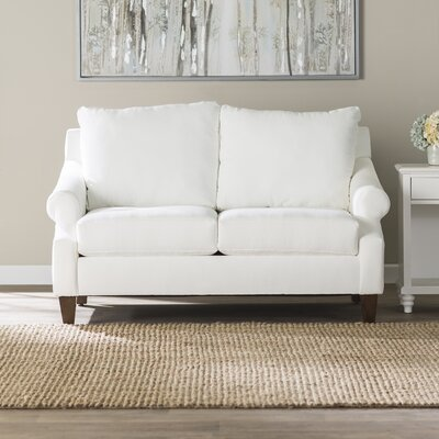 Normanson Loveseat Upholstery: Classic Bleach White