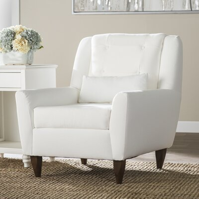 Carly Occasional Chair Upholstery: Classic Bleach White