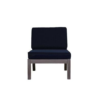 Rossi Chair with Cushions Fabric: Navy