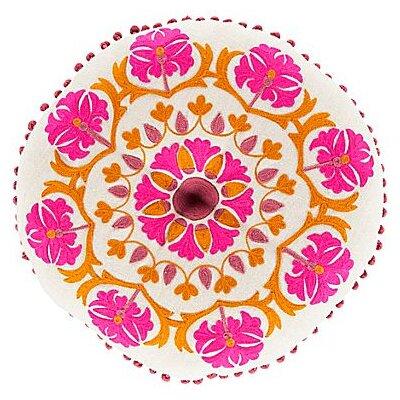 Marrakesh Embroidered Linen Pillow Color: Iris