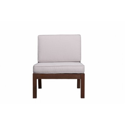 Rossi Chair with Cushions Fabric: White