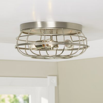 Cheke Flush Mount Finish: Satin Nickel