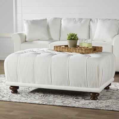 Beauvoir Cocktail Ottoman Upholstery: Classic Bleach White