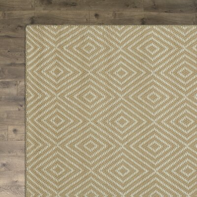 Kris Hand-Woven Taupe Area Rug Rug Size: Rectangle 4 x 6