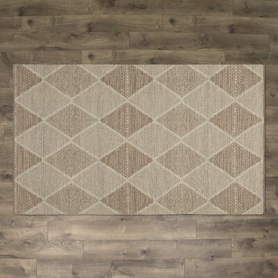 Jessup Hand-Woven Cotton Beige Area Rug Rug Size: Rectangle 3 x 5