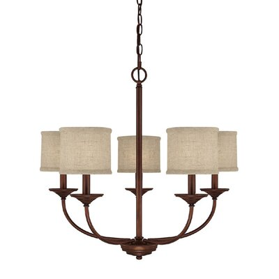 Kipling 5-Light Shaded Chandelier Finish: Burnished Bronze