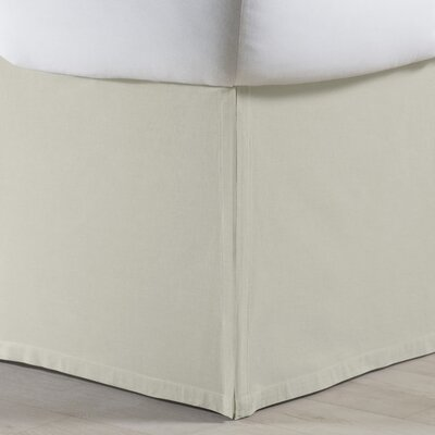 Rochelle Bed Skirt Size: Twin, Color: Cr�me