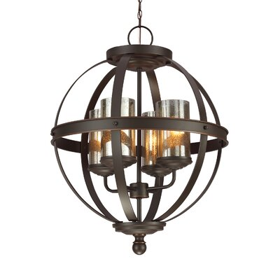 Tuscany 4-Light Shaded Chandelier Bulb Type: Incandescent