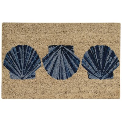 Seashell Welcome Mat Rug Size: Rectangle 1'6