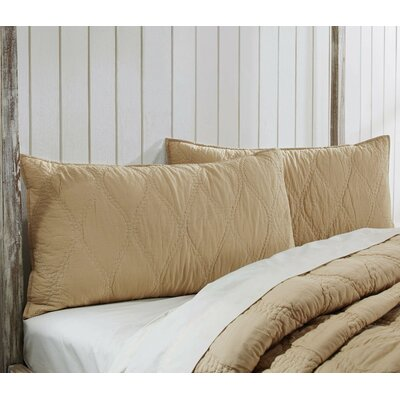 Charlotte Quilted Sham Size: Luxury, Color: Sand