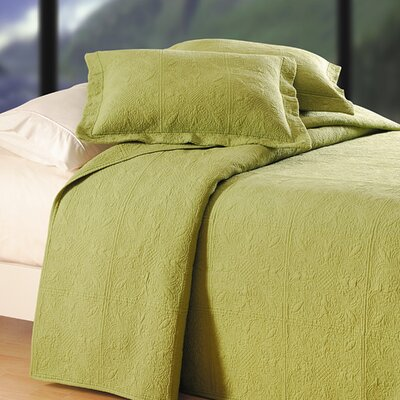 Jolie Bedding Matelasse Size: King, Color: Lead