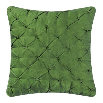 Alda Pintucked Pillow Cover Color: Forest