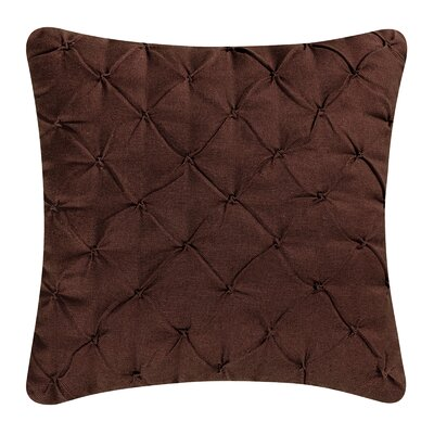 Alda Pintucked Pillow Cover Color: Chocolate