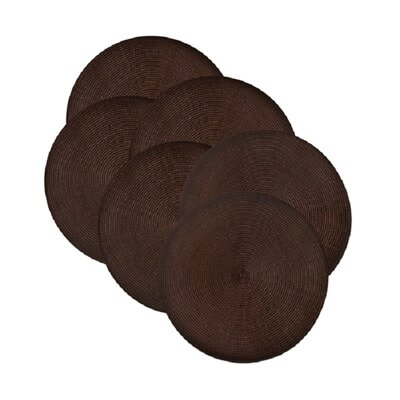 Round Braided Placemats Color: Chocolate