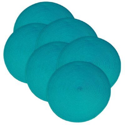 Round Braided Placemats Color: Baja Blue