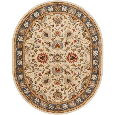 Arden Parchment Rug Rug Size: Oval 8 x 10