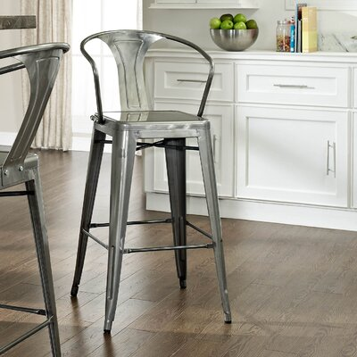 Cesare Bar Stool Finish: Black