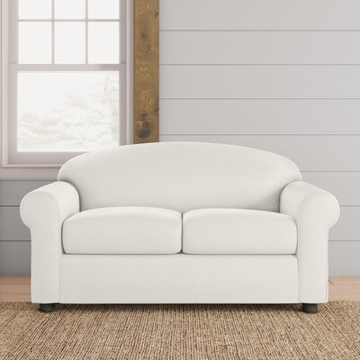 Possibilities Loveseat Upholstery: Hilo Flax