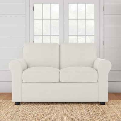 Silva Loveseat Upholstery: Godiva Putty